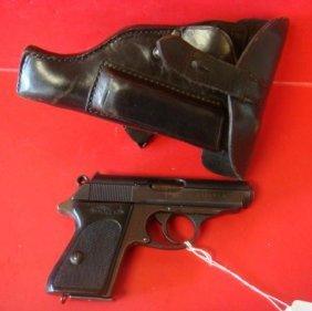 Ww Ii Walter Ppk 7.65 M/m Sa Pistol And Holster: