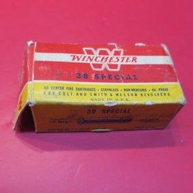 50 Vintage Cartridges For 38 Cal Pistols: