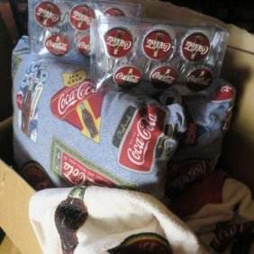 Coca-cola Brand Shower Hooks/pillows/blanket & More: