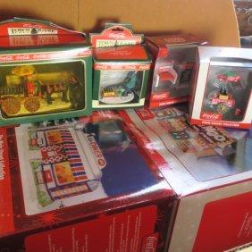 Coca-cola Nostalgic 7 Piece Town Square Collection:
