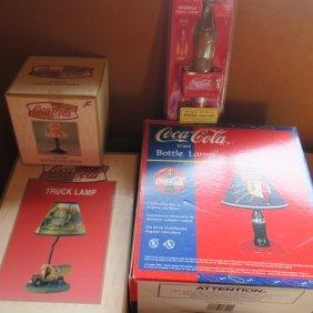 Coca-cola Nostalgic 4 Pieces Of Lighting: