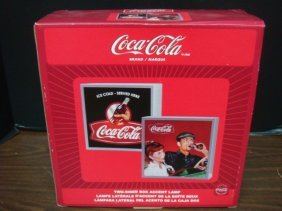 Coca Cola Two Sided Box Accent Lamp: