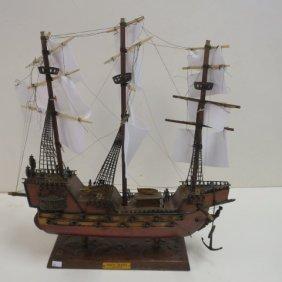 "Wooden Ship Model Of ""santa Maria Ano 1492"""