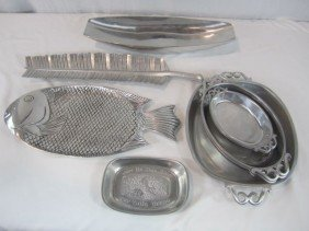 C93-10  COLLECTION OF 9PCS. OF PEWTER