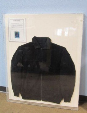 A45-53  ELVIS PRESLEY JACKET IN PLEXI GLASS FRAME