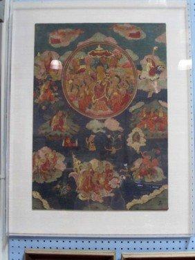 D26-1  TIBET TONKA 18 LOHAN BUDDAH PICTURE