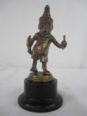 "A44-156  BRONZE ""PUNCH"" CIGAR MAN"