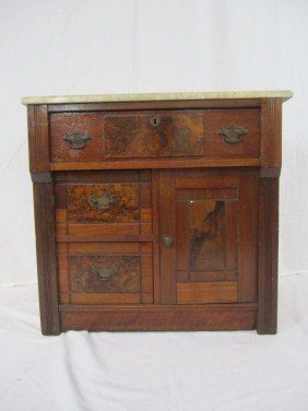 C11-7  MARBLE TOP CABINET