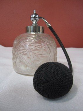 A45-28  R LALIQUE PERFUME WITH ATOMIZER