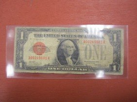 C6-2  1928 ONE DOLLAR RED SEAL NOTE