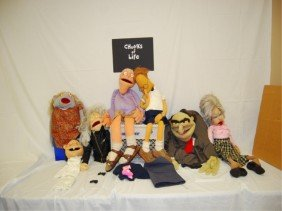 """7 MARIONETTE PUPPETS PROPS """"CHUNKS OF LIFE"""" 1995"""