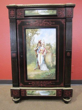 A11-31  MARBLE TOP CABINET