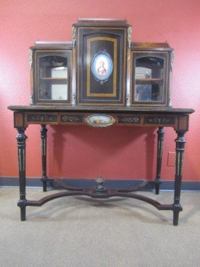 A11-42  WRITING DESK WITH SEVRES INSERTS