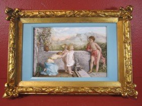 A11-63  HAND PAINTED PORCELAIN PLAQUE