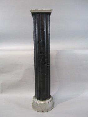 H36-3  MGM BLACK & SILVER PEDESTAL