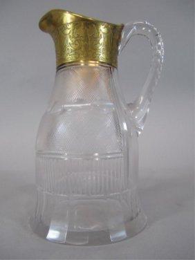H80-201  MOSER SPLENDID GOLD PITCHER