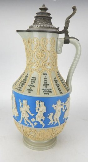 Large Old Villeroy And Boch Mettlach Ewer