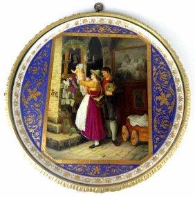 Gilt Bronze Framed Royal Vienna Porcelain Plaque