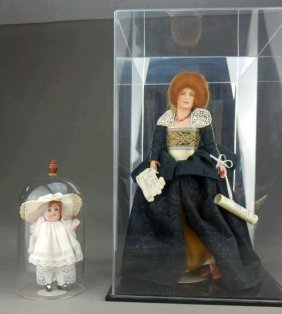 German Porcelain Doll & Sarah Andrews Doll