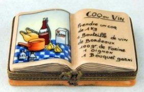Limoges Miniature Cook Book Pill Box