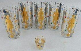 Culver Mardi Gras Jester Jeweled Glasses