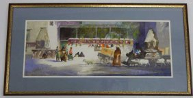 Mathew R. Leizer Watercolor Painting