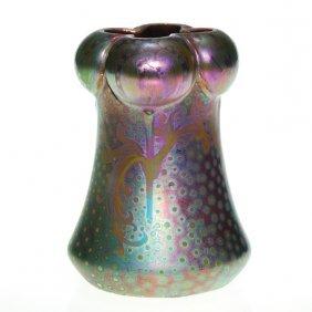 Weller Sicard 4 Lobed 5 3/8� Vase, Floral