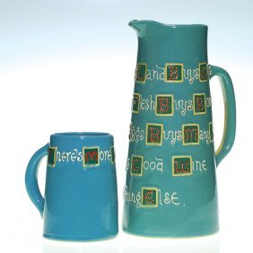 Weller Jap Birdimal Tankard And Mug, Hattie Ross,