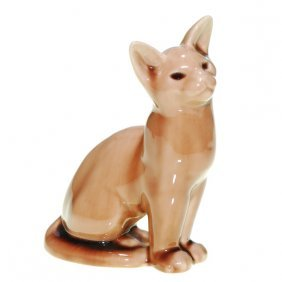 Rookwood 6 5/8� Cat Paperweight, 1945, Brown
