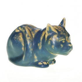 Rookwood Cat Paperweight, #6065, 1928, 2 1/2""