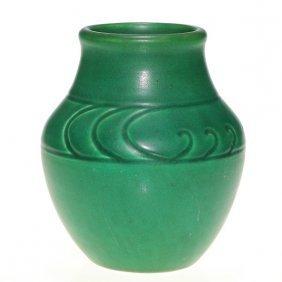 """Rookwood Hand Incised Z Line Vase, 1903, 5 1/8"""""""