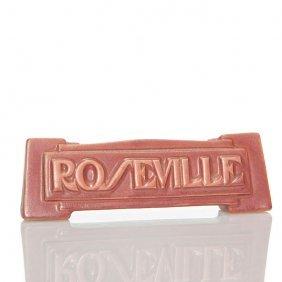 """Roseville Deco 2"""" X 6 1/4"""" Dealer Advertising Sign"""