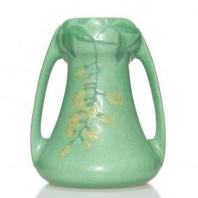 """Weller Matt Ware Vase, Wisteria, 6 3/4"""""""