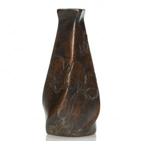 Clewell Copper Clad Owens Vase, Ca 1906, 5 5/8""