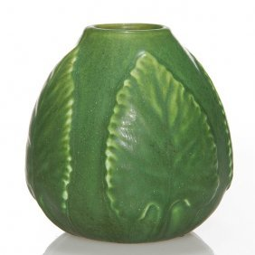 """Hampshire Vase With 4 Embossed Leaves, 3 1/2"""""""