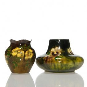 2 Charles Volkmar Crown Point Vases