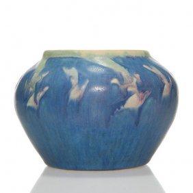 "Newcomb College Vase, Floral, 3 1/4"", Sadie Irvine"