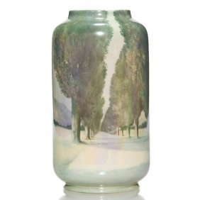 "Royal Doulton Vase, Scenic, 8 1/4"", R. Holdcroft"