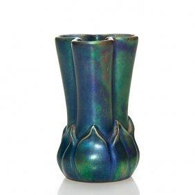 """Zsolnay Labrador Glaze Mini Vase, 2 1/2"""""""