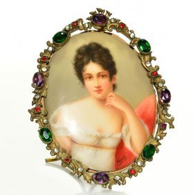 Wagner Hutschenreuther Mini Plaque, Noblesse Lady