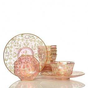 Set Of 6 Venetian Fruit Bowls & Underplates