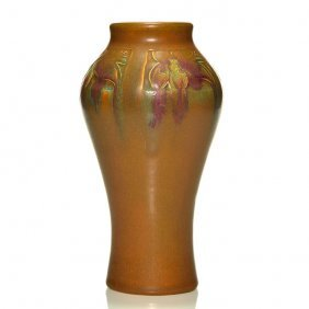 Rookwood Ombroso Vase, Todd, 1915,909c, 9 1/4""