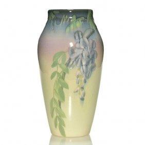 """Rookwood Iris Vase, Wisteria, Coyne, 1906, 9 5/8"""""""
