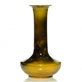 "Rookwood Standard Vase, Pine Cones,toohey,12 5/8"""
