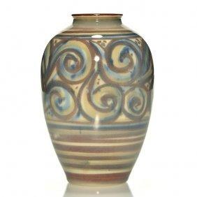 """Rookwood Jensen Porcelain Floral, 6 7/8"""", 1946, S"""