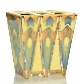 """Rookwood Porcelain Planter, Sax, 1931, 6137, 5 1/4"""""""