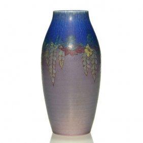 """Rookwood Vase, Floral, Mcdonald, 1924, 939d,6 3/4"""""""