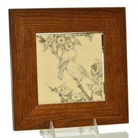 "Rookwood Trivet, Birds, Sara Sax,1920, 5 1/2"""