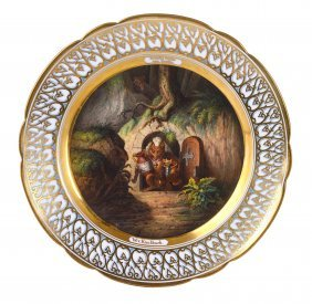A GOOD GERMAN PORCELAIN CABINET PLATE, CIRCA 1830 We