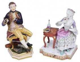 A Meissen Group, 'taste', Mid 19th Century From The